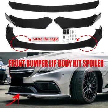 3Pcs Universal Mobil Depan Bumper Bibir Dagu Bumper Body Kit Splitter Diffuser untuk Honda untuk BMW Untuk BENZ Karbon terlihat Serat/Hitam