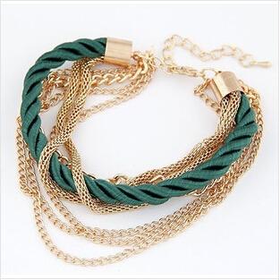 2014 New Fashion Cheap Chain Rope Bracelets & Bang...