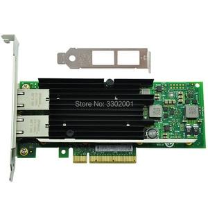 Image 2 - FANMI כפול יציאת RJ45 PCI E X8 10Gb Ethernet רשת מתאם X540 T2