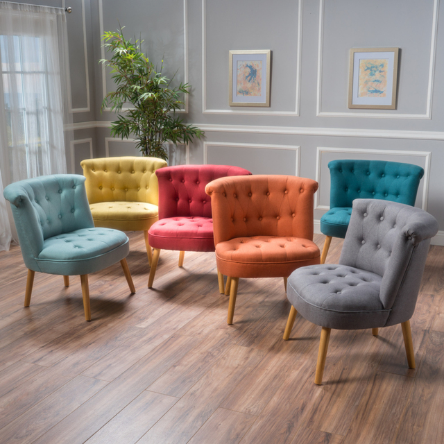 tufted accent chairs chair gym accessories donna plush modern in living room from