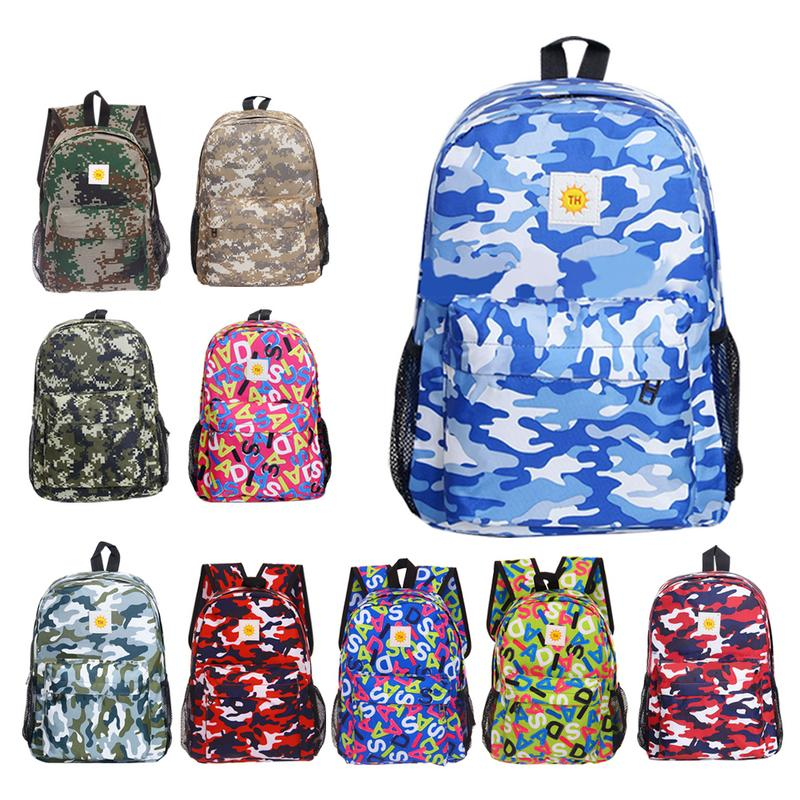 School Student Backpack Outdoor Summer Camp Camouflage Training Leisure Travel Backpack Bags
