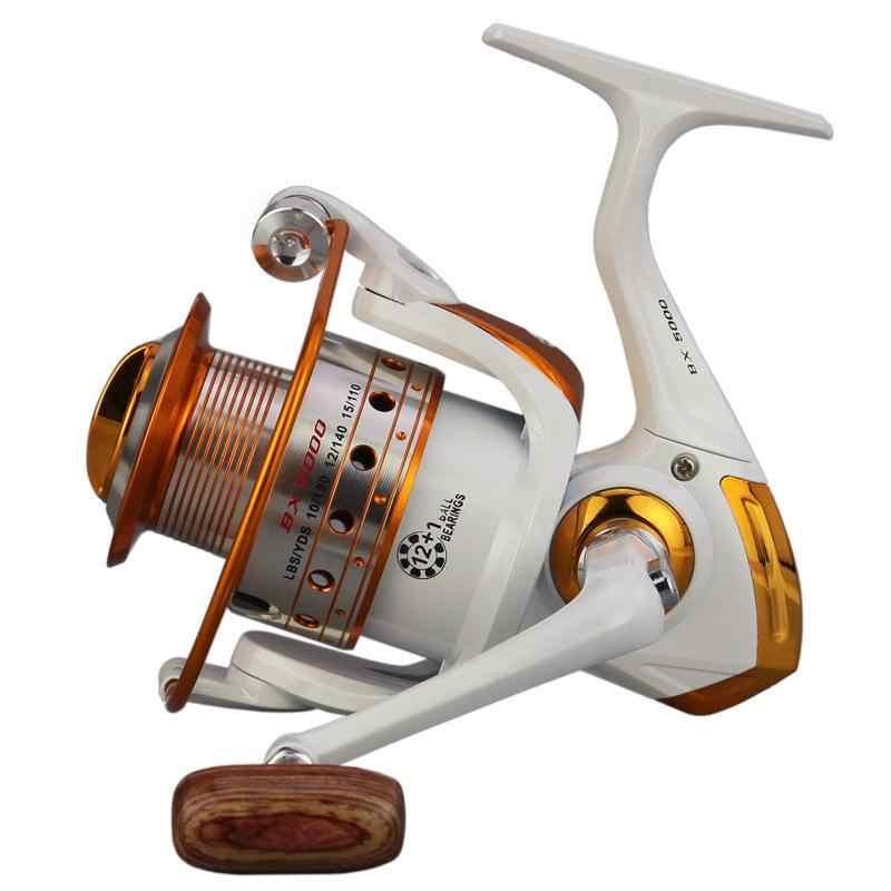 Weimostar White 12+1BB Left/Right Profession Fishing Reel Metal Body Reel Fishing Wheel Big fish killer Fishing Tackle
