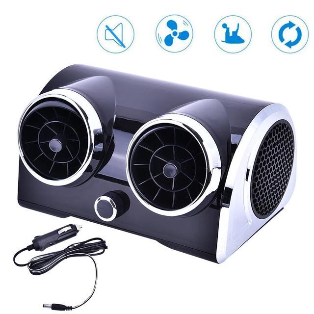 Aire acondicionado coche ventilador de refrigeración agua hielo evaporativo negro
