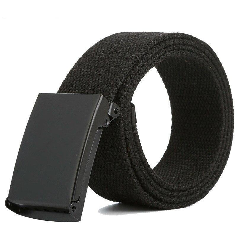 2018 Canvas Belt Casual Pants Cool Wild Gift For Men Women Belt Men's Canvas Belt Metal Tactics Woven Belt 160cm