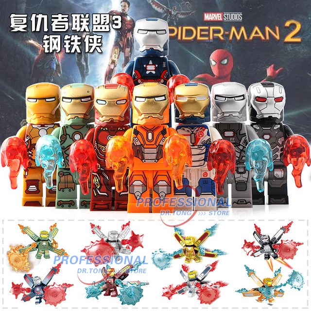 8pcs Lot Sy1103 Infinity War Figures Iron Man Armor Mark 50 War