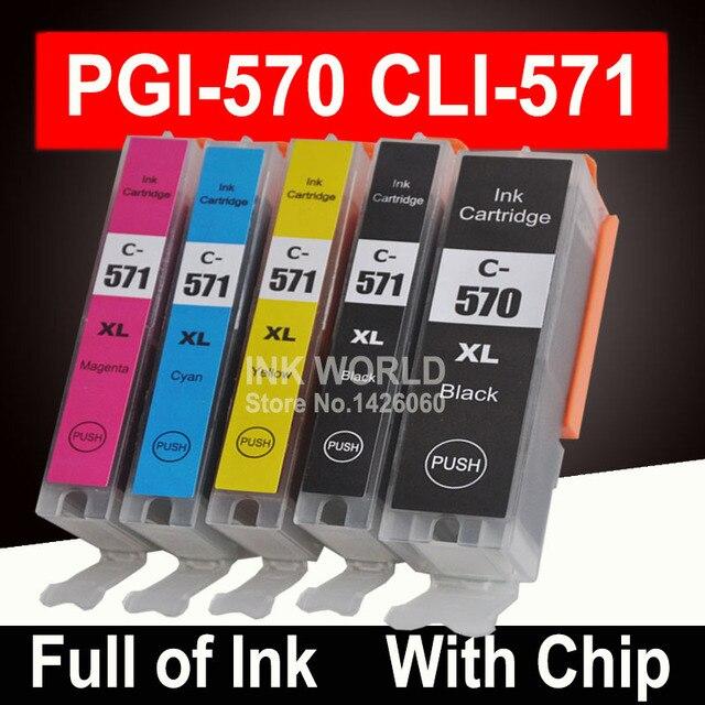 עבור Canon PGI 570 CLI 571 PGI570 XL דיו עבור Pixma MG5750 MG5751 MG5752 MG6850 MG7750 MG6853 MG7753 TS5050 TS5051
