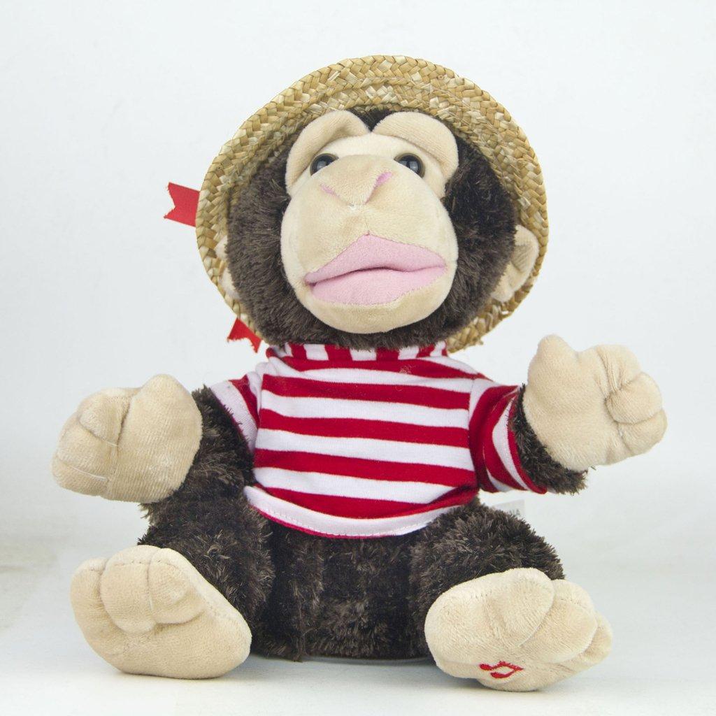 22cm Plush Monkey Doll Sing Swing Arm Home Decoration Educational Toys Birthday Gift for Baby Children Kids Toddler 4