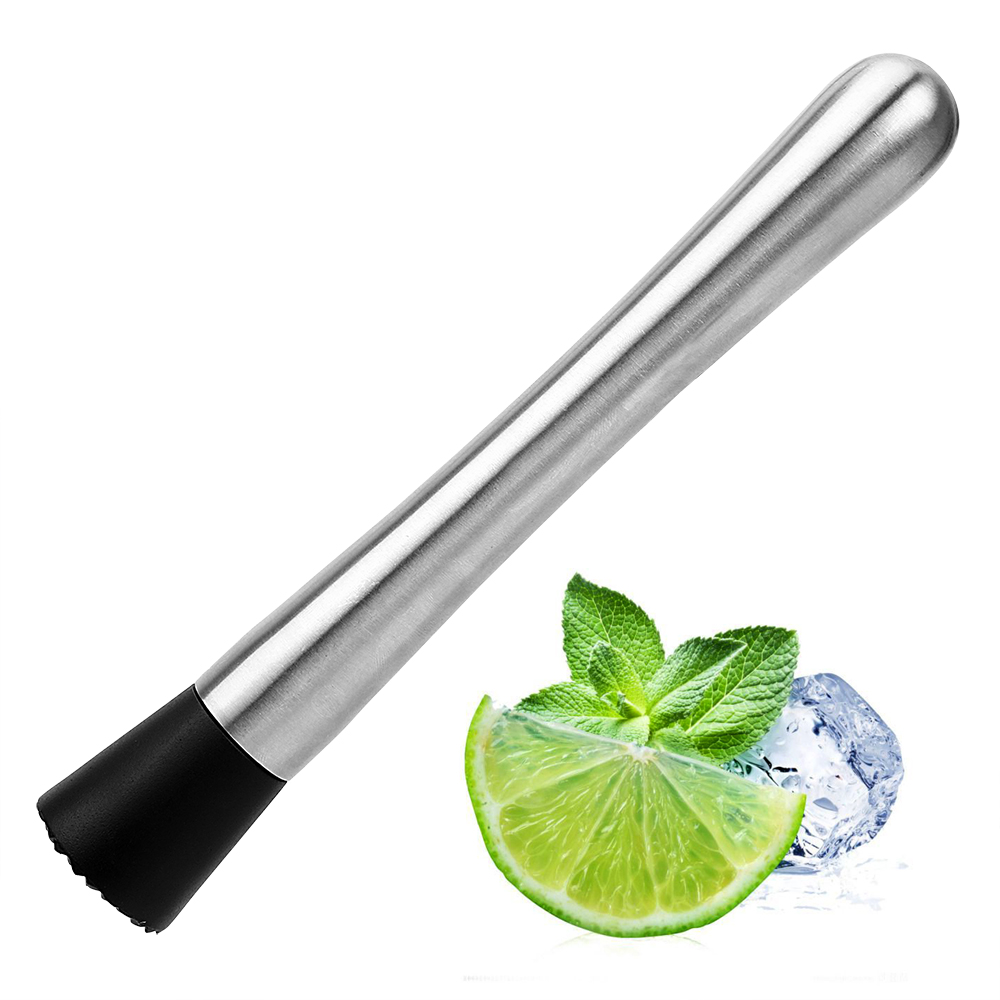 Wine Tools Swizzle Stick Cocktail Shaker Stainless Steel Barware Metal Masher