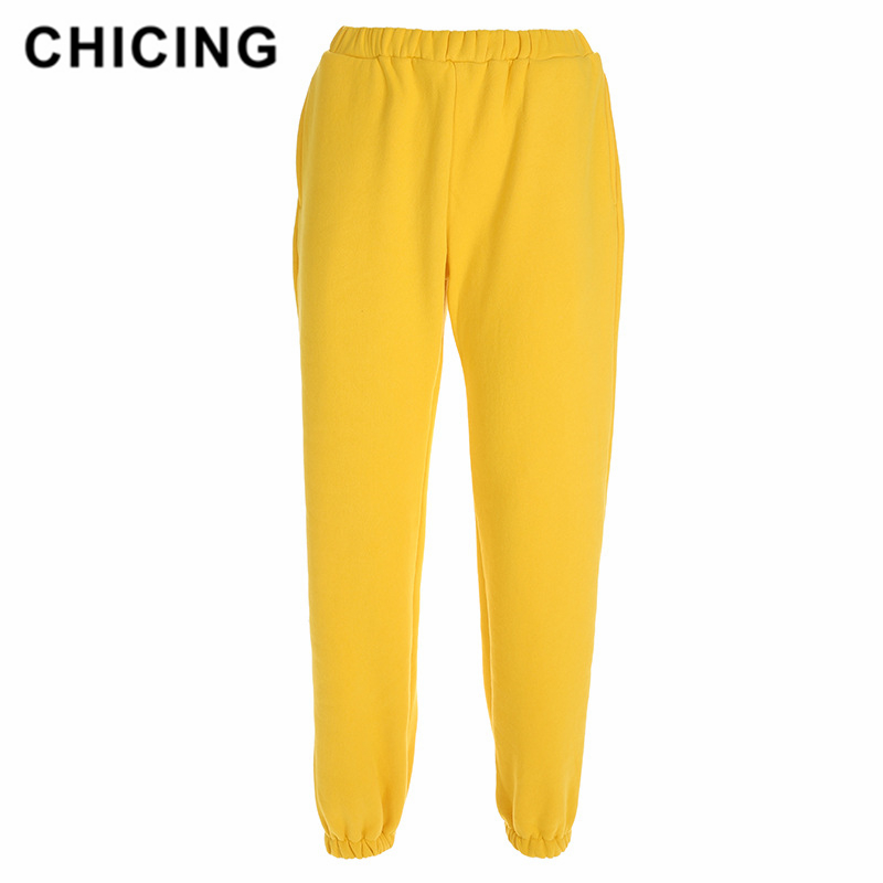 CHICING Plus Velvet Thick Sweater Pants European And American Style Street Street Pants Loose Casual Pants Women's Sports Pants
