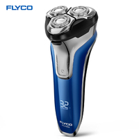 FLYCO FS375 Rechargeable Electric Shaver Wet Dry Rotary Razor For Men Shaving Machine Pop Up Trimmer LED Charging Display