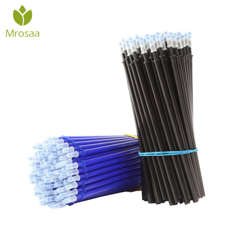 100Pcs/Set Office Gel Pen Erasable Refill Rod Magic Erasable Pen Refill 0.5mm Blue Black Ink School Stationery Writing Tool Gift100Pcs/Set Office Gel Pen Erasable Refill Rod Magic Erasable Pen Refill 0.5mm Blue Black Ink School Stationery Writing Tool Gift