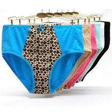 цены на 6 Pcs  Plus Size Underwear Women Leopard Print Sexy Cotton Panties  Lingerie  Ropa Interior Femenina  в интернет-магазинах