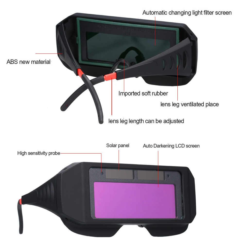 Солнечные авто затемнение сварочное стекло Сварочная маска шлем глаза Goggle рабочее место Сварка защитное снаряжение сварочные очки