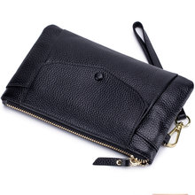 2019 Fashion Ladies Wallet Female With Genuine Leather Wristlet Card & Id Holders Money Purse For Womens Wallets And Purses New(China)