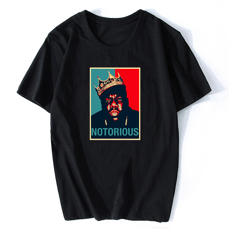 R.I.P Notorious Big Shirt Mens Short Sleeve Black Tshirt Hiphop Rock Biggie Smalls T Shirt Male Notorious B.I.G. T Shirts