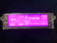 car screen support USB and Bluetooth Display Pruple monitor 12 pin for Peugeot 307 407 408 citroen C4 C5 (Some Model)
