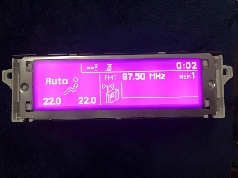 Support écran de voiture USB et Bluetooth Affichage Pruple moniteur 12 broches pour Peugeot 307 407 408 citroen C4 C5 (Certains modèle)