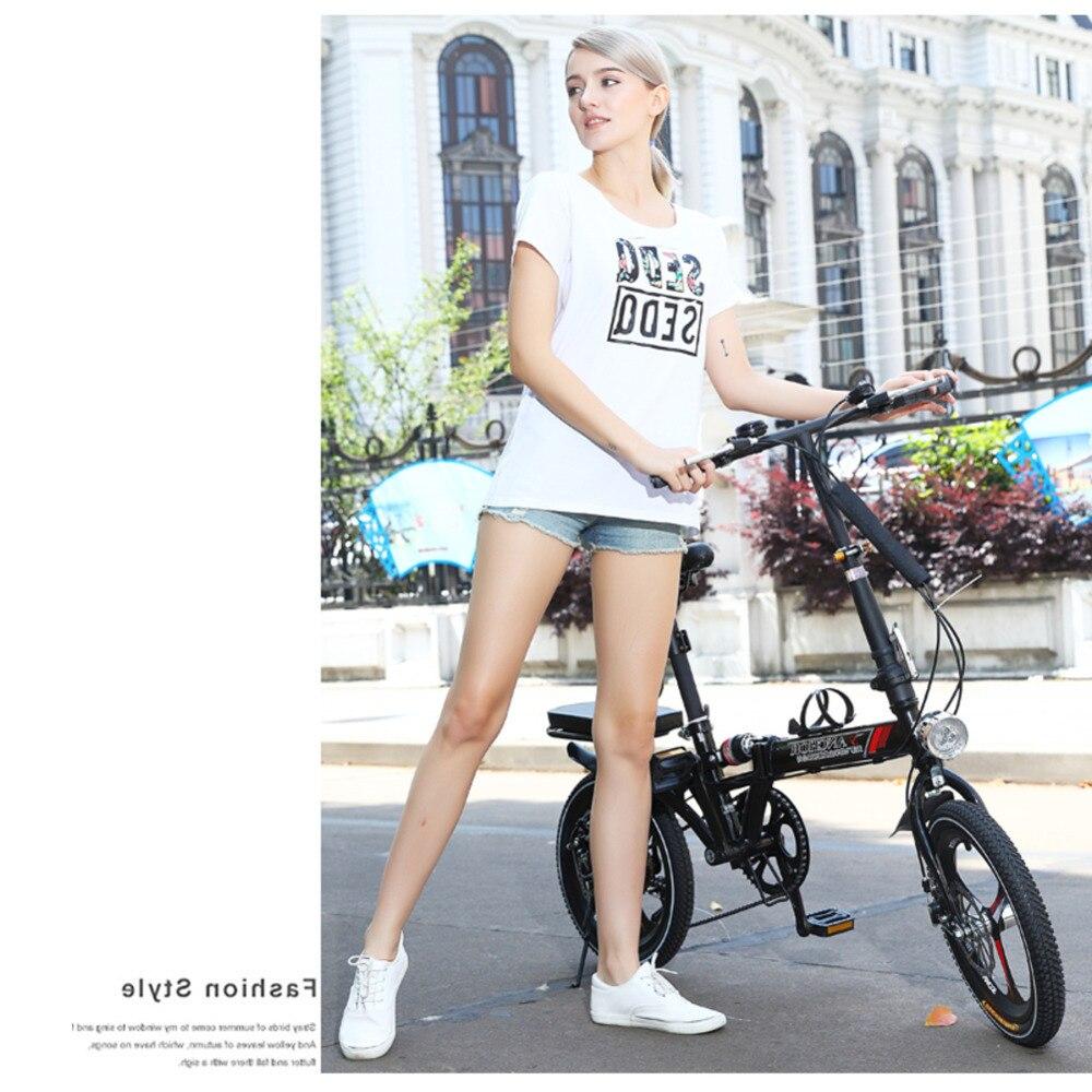 Nouveau 14/16/20 pouces roue en acier au carbone cadre 6 vitesses femmes vélo pliant enfants vélo extérieur Bmx souple-queue Bicicleta