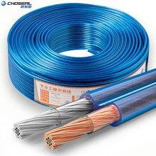 CHOSEAL DIY kabel Audio HIFI beztlenowy czysty miedziany kabel głośnikowy do samochodowy sprzęt Audio głośnik do kina domowego drut miękki w dotyku