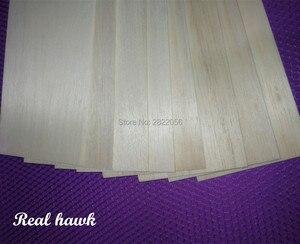 Image 4 - 10pcs 500x100x0.75/1/1.5/2/2.5/3/4/5mm AAA+ Model Balsa wood sheets for DIY RC model wooden plane boat material
