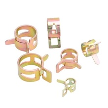 10 Pcs/Set Motorcycle Scooter Car Vehicle Go Kart Fuel Line Hose Tubing Water Pipe Air Tube Spring Clips Clamps Auto Parts