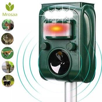 New Garden Solar Powered Ultras onic Outdoor Animal Repeller Motion Sensor Flash Light Dog Cat Raccoon Rabbit Animal Dispeller
