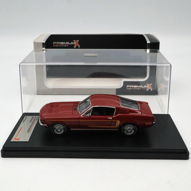 IXO Premium X 1 43 FORD MUSTANG GT Fastback 1968 BORDEAUX PRD369J Limited Edition Collection