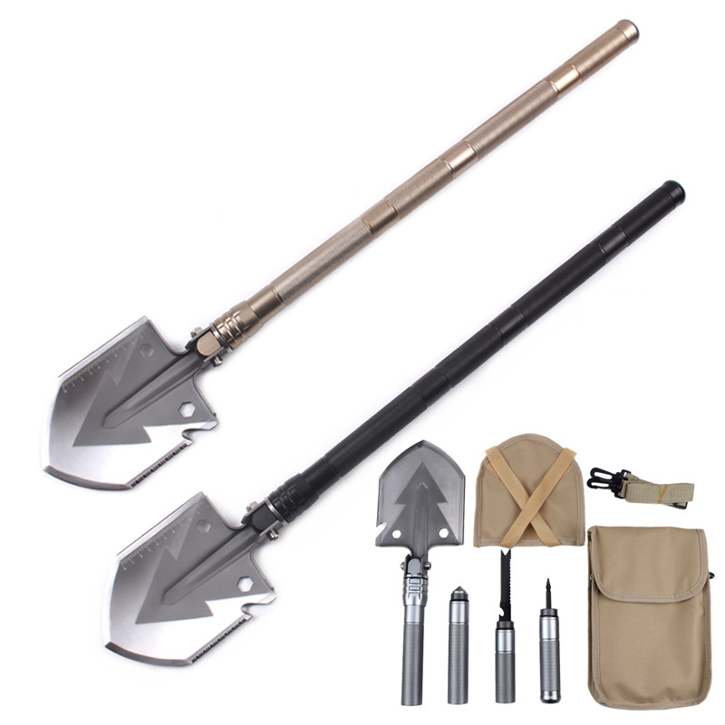 Field survival camping Folding Shovels portable Outdoor Multifunctional camping supplies tools Multi function Shovel