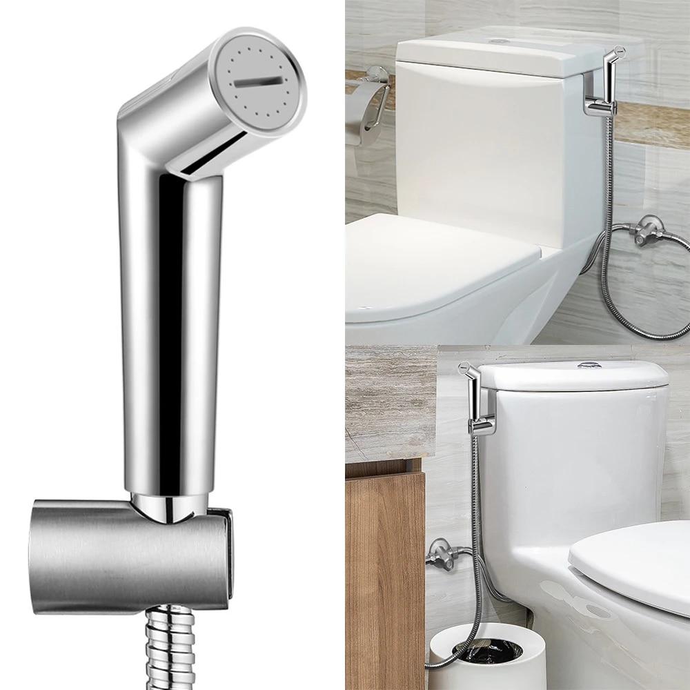 Toilet Bidet Sprayer Stainless Steel Hand Held Shattaf Bathroom Shower Head US