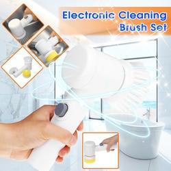 5 cal 1 czyszczenie elektryczne szczotka do płytek łazienkowych i wanna narzędzie do mycia do kuchni wielofunkcyjny płyn do szyb przyrząd do oczyszczania|Szczotki do czyszczenia|Dom i ogród -