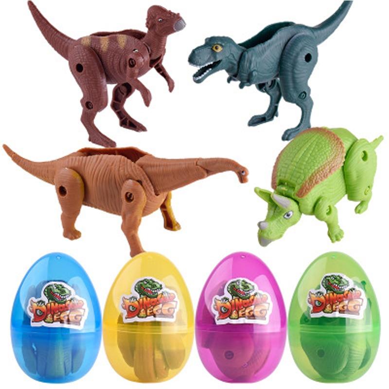 9*5.5cm Transformed Dinosaur Egg Toys For Children Tyrannosaurus Rex Triceratops Boys Favorite Surprise Dinosaur Eggs Toys Gift