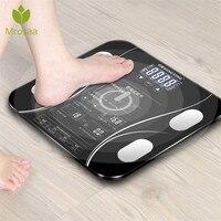 Горячая ванная комната тело жир b mi Весы Цифровой человеческий вес mi весы пол ЖК-дисплей индекс тела Электронные умные весы
