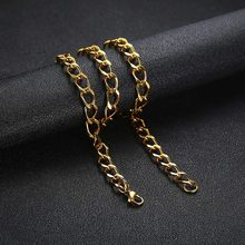 Golden Stainless Steel Link Chain Necklace for Men(China)