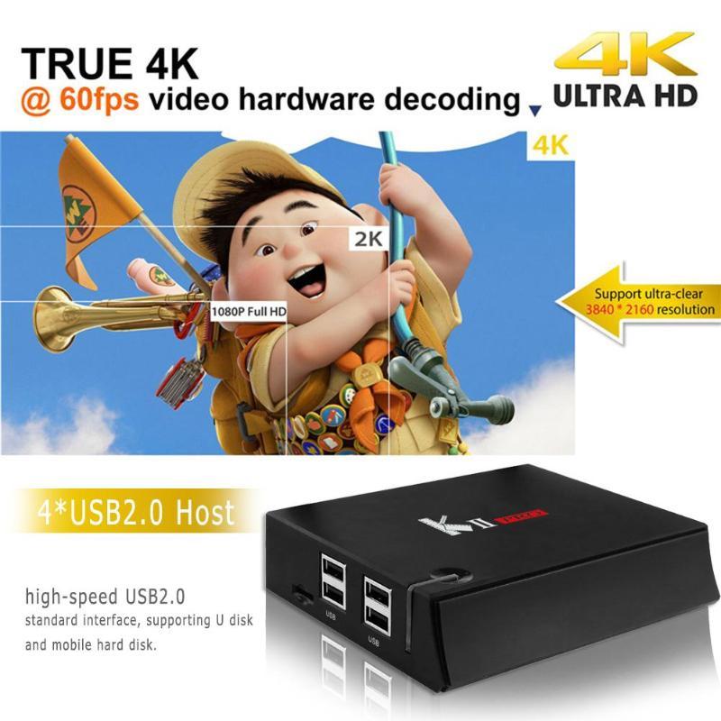 TV Box Amlogic S905D Quad Core Android 7.1 2GB+16GB 4K Set-top Box With Dual Wi-Fi Bluetooth Media Palyer High Quality m8s 2gb 8gb android 4 4 2 tv box with quad core amlogic s812 2 4g 5g wi fi bluetooth us plug black