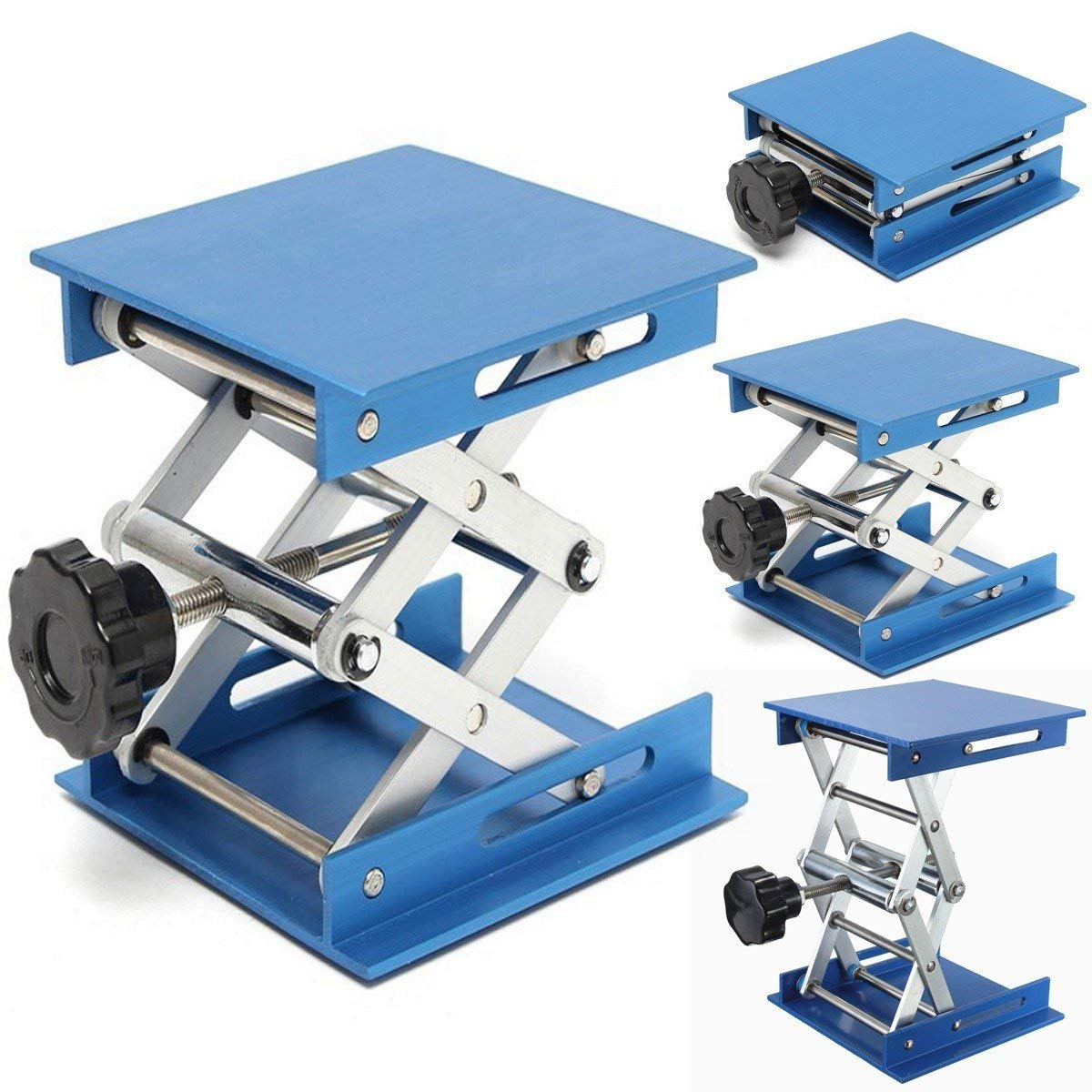 US $16 88 |Aluminum alloy Laboratory Jack Scissor Lift Platform Foldable  Lifting Table Pad Height Control Ideal Woodworking Machinery Parts-in