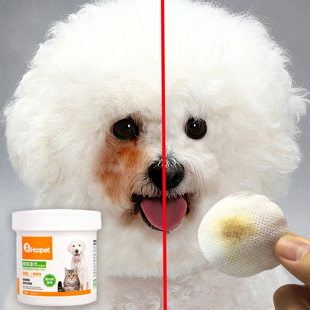 Adeeing 120Pcs Pet Hypoallergenic Wipes Tear Marks Remover image