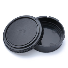 MAYITR 1pc Professional Camera Plastic Front & Rear Lens Caps Cover Black Suitable For Canon FD Body and
