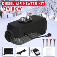 12V 8000W Car Heater Diesel Air Heater 8KW Black LCD Thermostat Remote Control FOR Car Boat RV Motorhome Trailer Trucks Newest