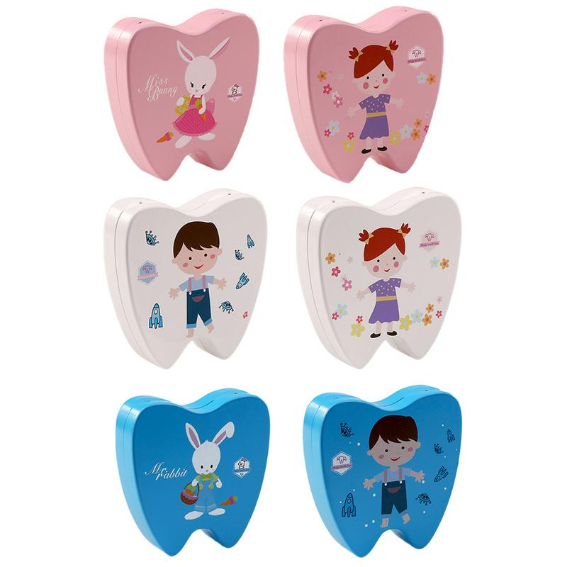 Child Girl Boy Tooth Collection Box Wooden Baby Drop Deciduous Tooth Dental Boxes Changing Baby Teeth Commemorative Box