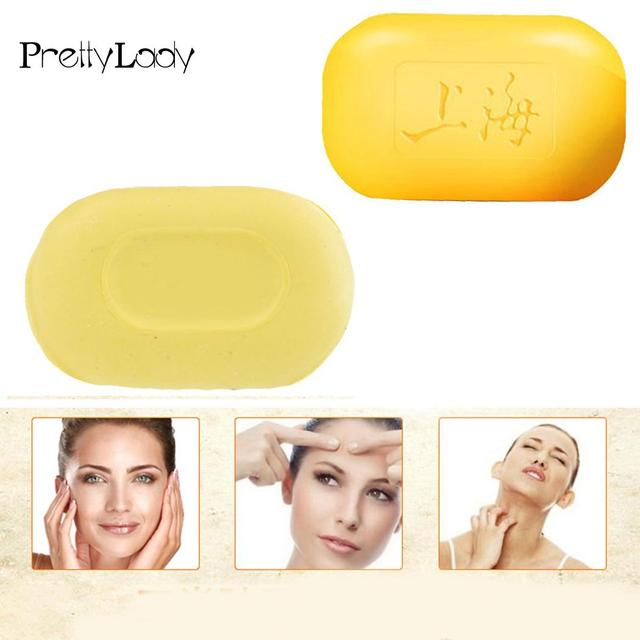 Soaps Soap Anti Acne Psoriasis Eczema Fungus Face Body Sulfur Skin Care Shanghai sulfur soap Whitening cleanser  tradition