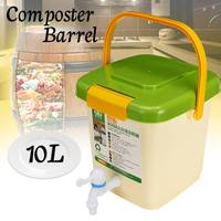 New 10L Household Recycle Composter Bucket Compost Barrel for Food Waste Fermentation for Organic Manure Garden Use