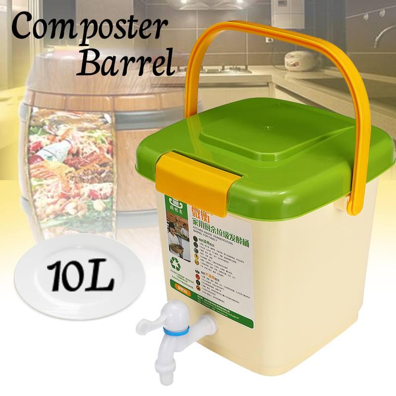 Nouveau 10L ménage recycler composteur seau Compost baril pour la Fermentation des déchets alimentaires pour l'utilisation de jardin de fumier organique