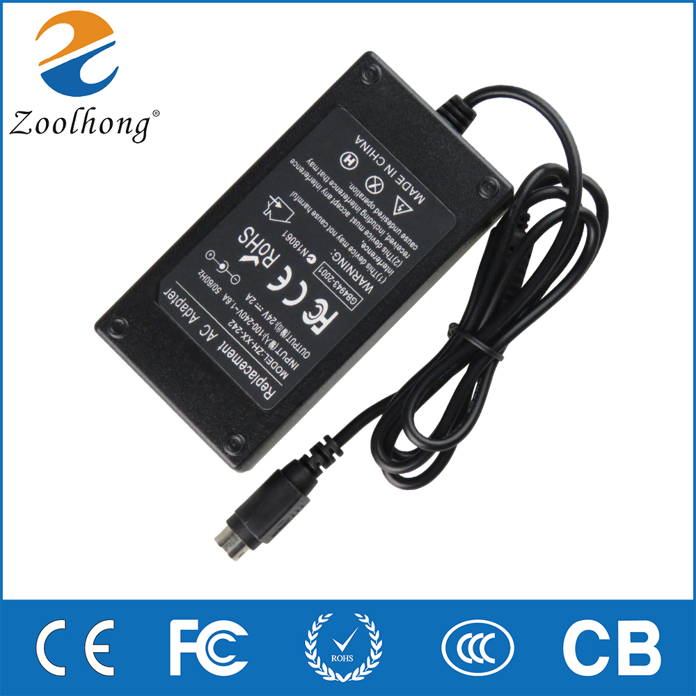 3d printer parts accessories 24V 2A 2.5A 3A 3PIN AC DC Adapter Charger For EPSON PS180 PS179 PC-180 RealPOS 7197 Power Supply