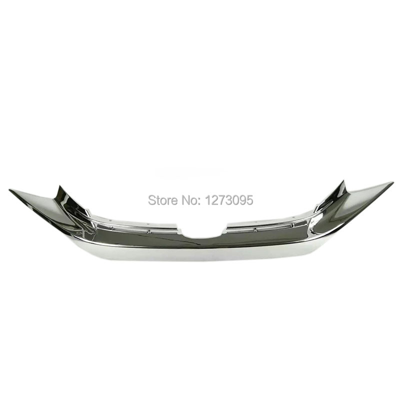 For Honda Civic 2016-2019 ABS Chrome Front Center Grille Trim Cover Air Intakes Molding Strip Exterior Car Styling Accessories