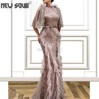 Розовый жемчуг Формальное вечернее платье платья для выпускного вечера de Festa Африка Дубай вечерние платье из Саудовской Аравии Аравия 2019 ис