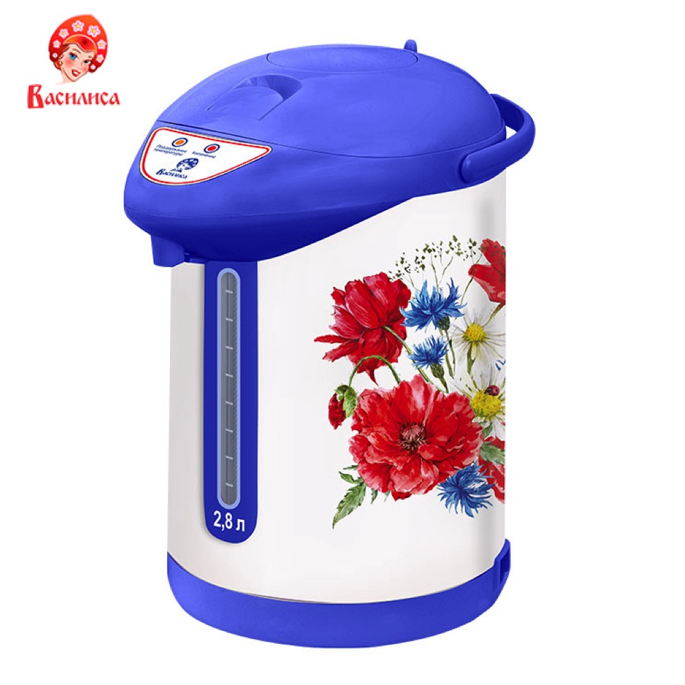 Electric Kettles VASILISA Kitchen Appliances Teapot warmer TP7-820 thermo keep сup stainless steel water mug food flask new safurance 200w 12v loud speaker car horn siren warning alarm stainless steel home security safety
