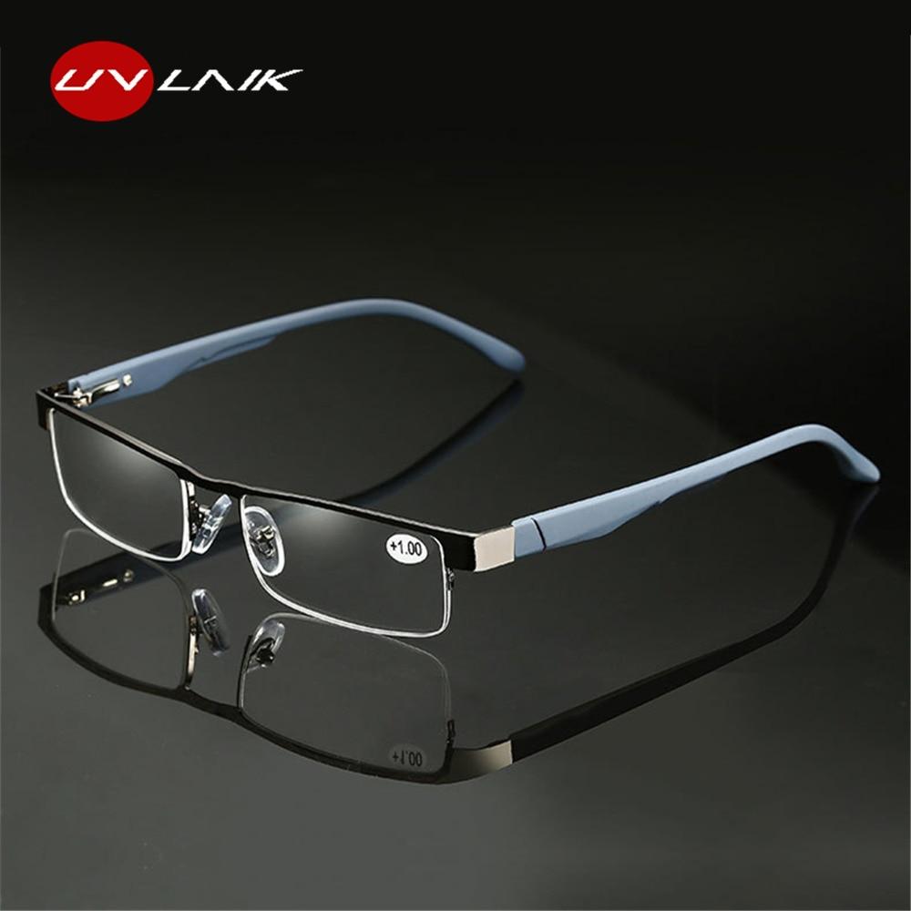 472427c6f705 UVLAIK Alloy Reading Glasses Men High Quality Business Eyeglasses Hyperopia Prescription  glasses +1.0 1.5 2.0 2.5 3.0 3.5 4.0