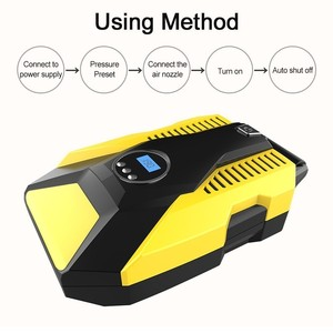 Image 4 - Digital Display Car Inflatable Pump 12V/220V Auto Car Air Compressor Vehicle Tire Inflator Pump For Car Motorcycles Bicycles