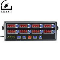 Black Timer 8 Channel Digital CAL 8B Burger Basket Shaking Timing 3 Stage Reminder Ring volume adjustable