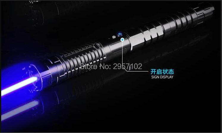 Most Powerful Military blue laser pointers 100w 100000m 450nm Flashlight light burning match dry wood black cigarettes Hunting in Lasers from Sports Entertainment